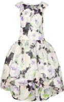 Marchesa Floral Print Silk Gazar Dress - Lyst