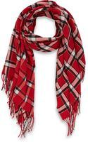 Marc By Marc Jacobs Red Toto Plaid Scarf - Lyst