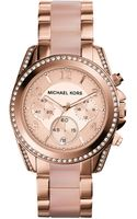 Michael Kors Womens Chronograph Blair Blush and Rose Goldtone Stainless Steel Bracelet Watch 39mm - Lyst