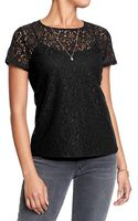 Old Navy Lace Tees - Lyst