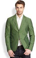 Ferragamo Tonal Checked Seersucker Jacket - Lyst