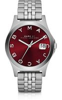 Marc By Marc Jacobs The Slim Stainless Steel Womens Watch Wburgundy Dial - Lyst