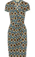 Issa Wrapeffect Printed Jersey Dress - Lyst