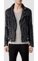 AllSaints Conroy Leather Biker Jacket - Lyst