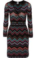 M Missoni Wrapeffect Chevronknit Dress - Lyst
