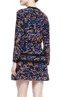 Veronica Beard Lacedetail Printed Peasant Dress - Lyst