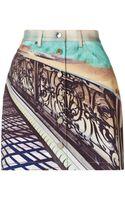 Mary Katrantzou Denim Skirt Twist - Lyst