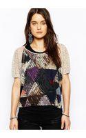 Denim & Supply Ralph Lauren Mosaic Print Short Sleeve T-Shirt - Lyst