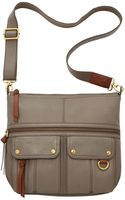 Fossil Morgan Leather Top Zip Crossbody - Lyst