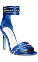 Betsey Johnson Blue By Charm Ankle Strap Evening Sandals - Lyst