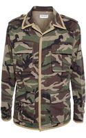 Saint Laurent Camouflage Shirt Jacket - Lyst