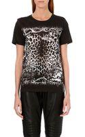 Balmain Animal-Print Jersey T-Shirt - Lyst