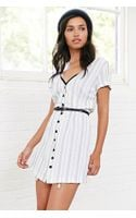 BDG Crepe Stripe Buttonfront Dress - Lyst