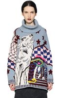 Antonio Marras Oversized Wool Turtleneck Sweater - Lyst