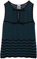 M Missoni Bowembellished Crochetknit Top - Lyst