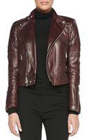 Ralph Lauren Black Label Circuit Leather Biker Jacket - Lyst