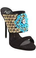 Giuseppe Zanotti 120mm Studs  Turquoise Suede Sandals - Lyst