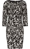 Reiss Jacques Textured Print Dress - Lyst