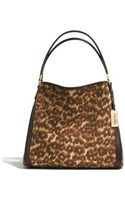 Coach Madison Small Phoebe Shoulder Bag in Ocelot Print Fabric - Lyst