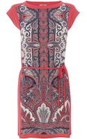Oasis Paisley Print Tshirt Dress - Lyst