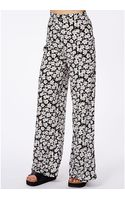 Missguided Ginette High Waisted Palazzo Trousers in Floral Print - Lyst