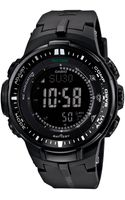 G-shock Mens Digital Pro Trek Black Resin Strap Watch 47x56mm 1a - Lyst