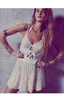Free People Little Debbie Crochet Dress - Lyst
