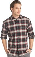 Izod Long-sleeve Plaid Twill Shirt - Lyst