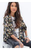 Forever 21 Floral Print Kimono - Lyst