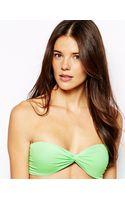 Asos Twist Bandeau Bikini Top with Tie Back - Lyst