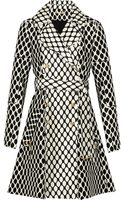 Diane Von Furstenberg Michelle Printed Wool and Silk-blend Jacket - Lyst