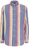 Polo Ralph Lauren Custom Fit Bold Stripe Shirt - Lyst