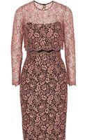 Lela Rose Lace Dress - Lyst