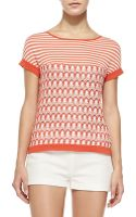 Missoni Short-sleeve Tee with Striped Yoke - Lyst