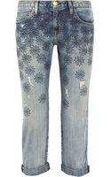 Current/Elliott The Boyfriend Embroidered Midrise Jeans - Lyst