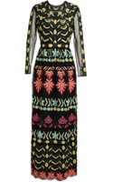 Valentino Embroidered Mesh Gown - Lyst