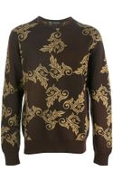 Versace Baroque Jacquard Sweater - Lyst