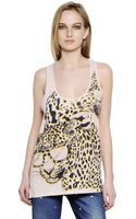 Stella McCartney Printed Cotton Silk Jersey Tank Top - Lyst