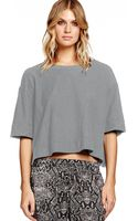 Michael Stars Elbow Sleeve Crew Neck Crop with Slits - Lyst