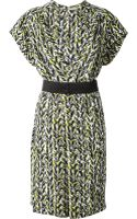 Balenciaga Allover Print Dress - Lyst