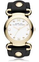 Marc By Marc Jacobs Molly Stainless Steel Womens Watch Wleather Strap - Lyst