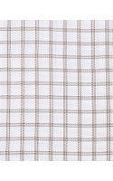 Ermenegildo Zegna Big Box Check Woven Dress Shirt Whitebrown - Lyst
