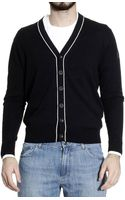 Armani Jeans Sweater Cardigan with Contrast - Lyst