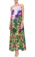 Seafolly Rio Halter Maxi Coverup Dress - Lyst