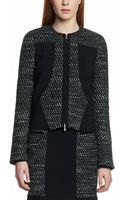Patrizia Pepe Short Chanel Style Jacket in Mixed Fabric with Inlays - Lyst