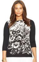 Lauren by Ralph Lauren Plus Floral Sweater - Lyst