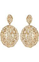 Aurelie Bidermann Gold Dipped Vintage Lace Earrings - Lyst