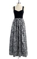 Aidan Mattox Patterned Empire Gown - Lyst
