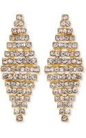 Jules Smith Rhinestone Honeycomb Earrings - Lyst