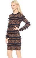 Veronica Beard Floral Jacquard Fringe Silhouette Dress  Amber Navy - Lyst